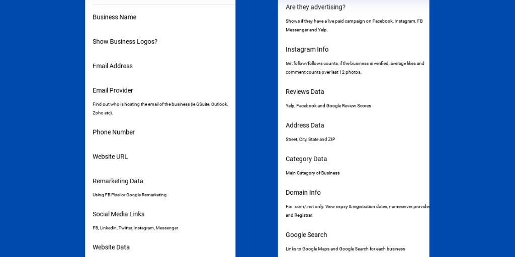 D7 Lead Finder Search Queries